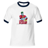Captain Planet And The Planeteers T Shirt Design Cartoon Character T Shirt Style Cool Fashion Man