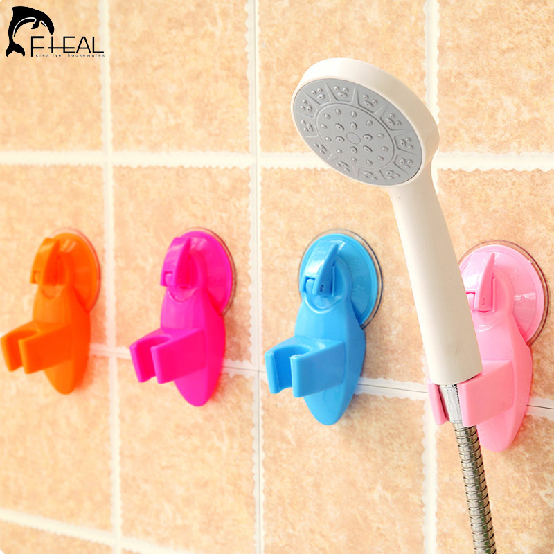 FHEAL Shower Sucker Bathroom Accessories Bathroom Seat Fixed Bracket Plastic Powerful Suction Chuck Holder Shower Room Tool