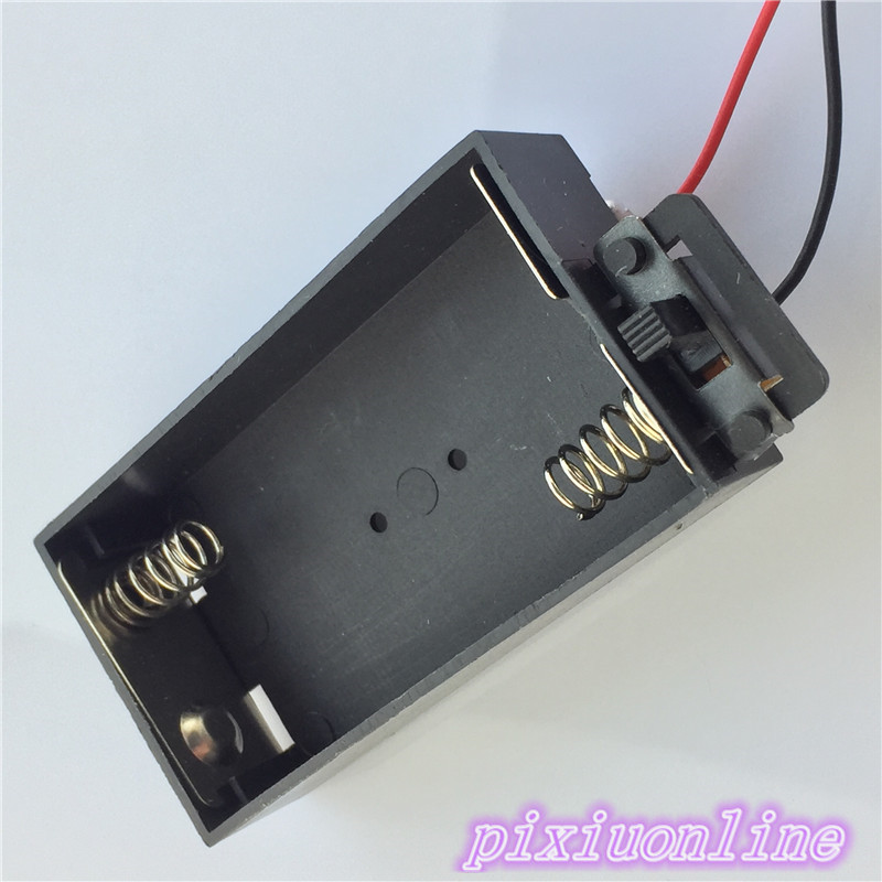 1pc J134Y High Quality  Rectangle Black Plastic Battery Box With Switch Contain 2 AA DIY Electrical Circuit Making On Sale