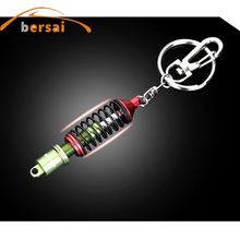 BERSAI Upscale Luxury Metal Shock absorber keychain key ring Car styling keyring car Creative Accessories Trinkets