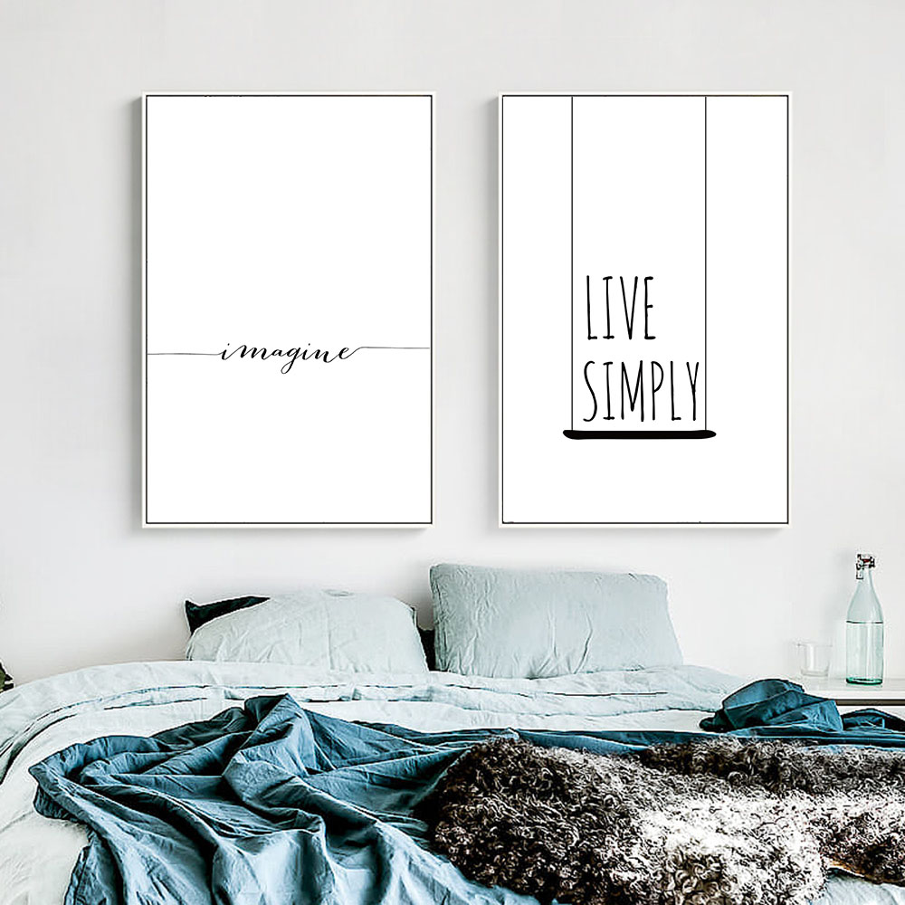 Creative Letter Live Simply Home Decor Painting Space Wall ... on Room Decor Posters id=51565