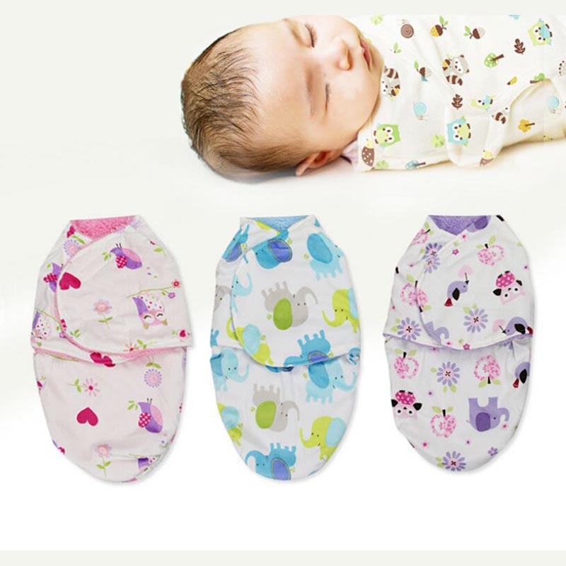 Winter Warm Double Layer Thick Fleece Infant Baby Swaddle Wrap Soft Plush Envelope For N ...