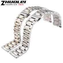 Vea los accesorios de plata maciza de acero inoxidable Watch sustitucion correa de banda Band 16 mm 18 mm 19 mm 20 mm 21 mm