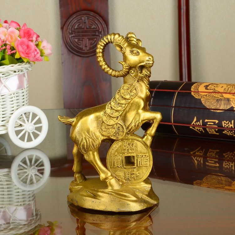 Copper sheep feng shui decoration decoration craft ornaments furnishing articles