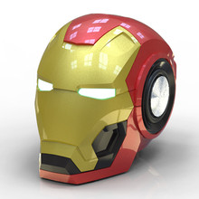 The Avengers Infinity War Iron Man Bluetooth Speaker Wireless Bluetooth Mini Shape Portable Speaker LED Light Speaker Cosplay led bluetooth speaker led light speaker led