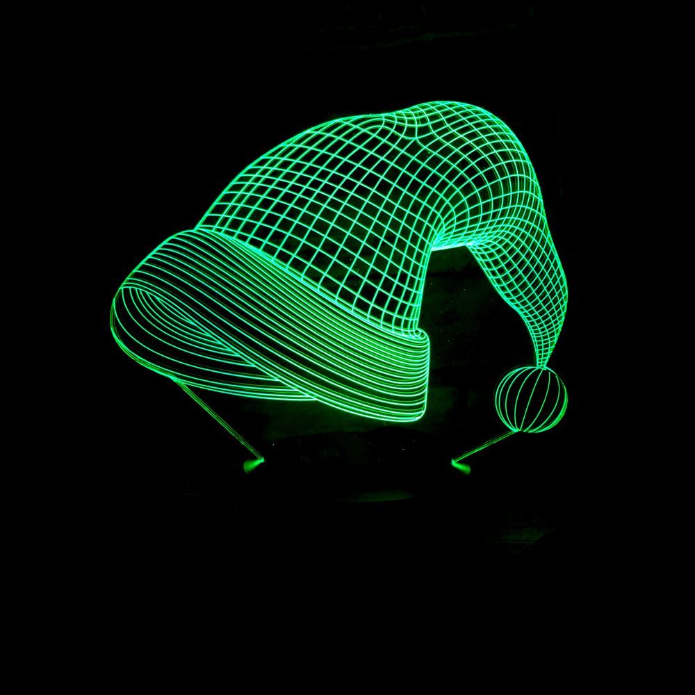 3D Novelty Usb Table Lamp Luminaria Led Bedside Baby Sleeping Night Light Christmas Hat Light Fixtures For Kids Gifts Xmas Decor
