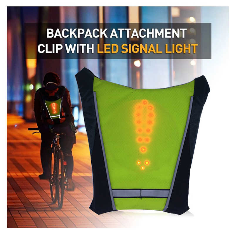 LED Running Safety Vest Turn Signal Bike Backpack Widget with Direction  Indicator Cycling Safety Light Running Vest Women Men| | - AliExpress