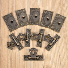 AEQUEEN 5.1x2.9cm Bronze Lock Box Replacement Buckles Tone DIY Bag Twist Lock Clasp Turn Lock Closure Hasp with Screws 5pcs/Sets(China)