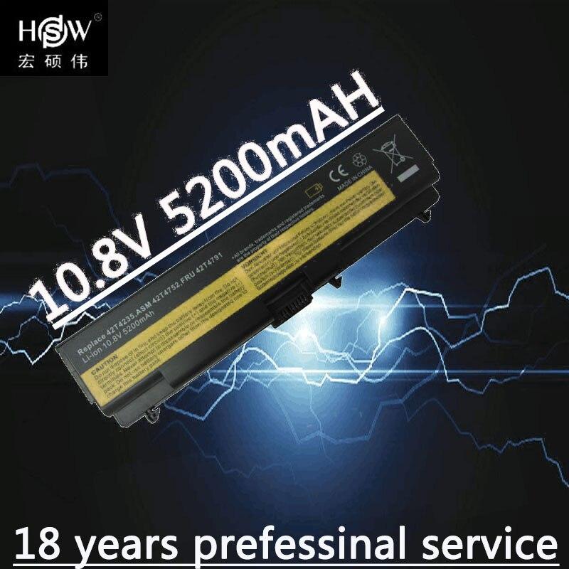 HSW 6cell Battery For Lenovo Laptop Battery E40 E50 L410 L412 L420 L421 L510 L512 L520 SL410 SL510 T410 T420 T510 T520 W510 W520