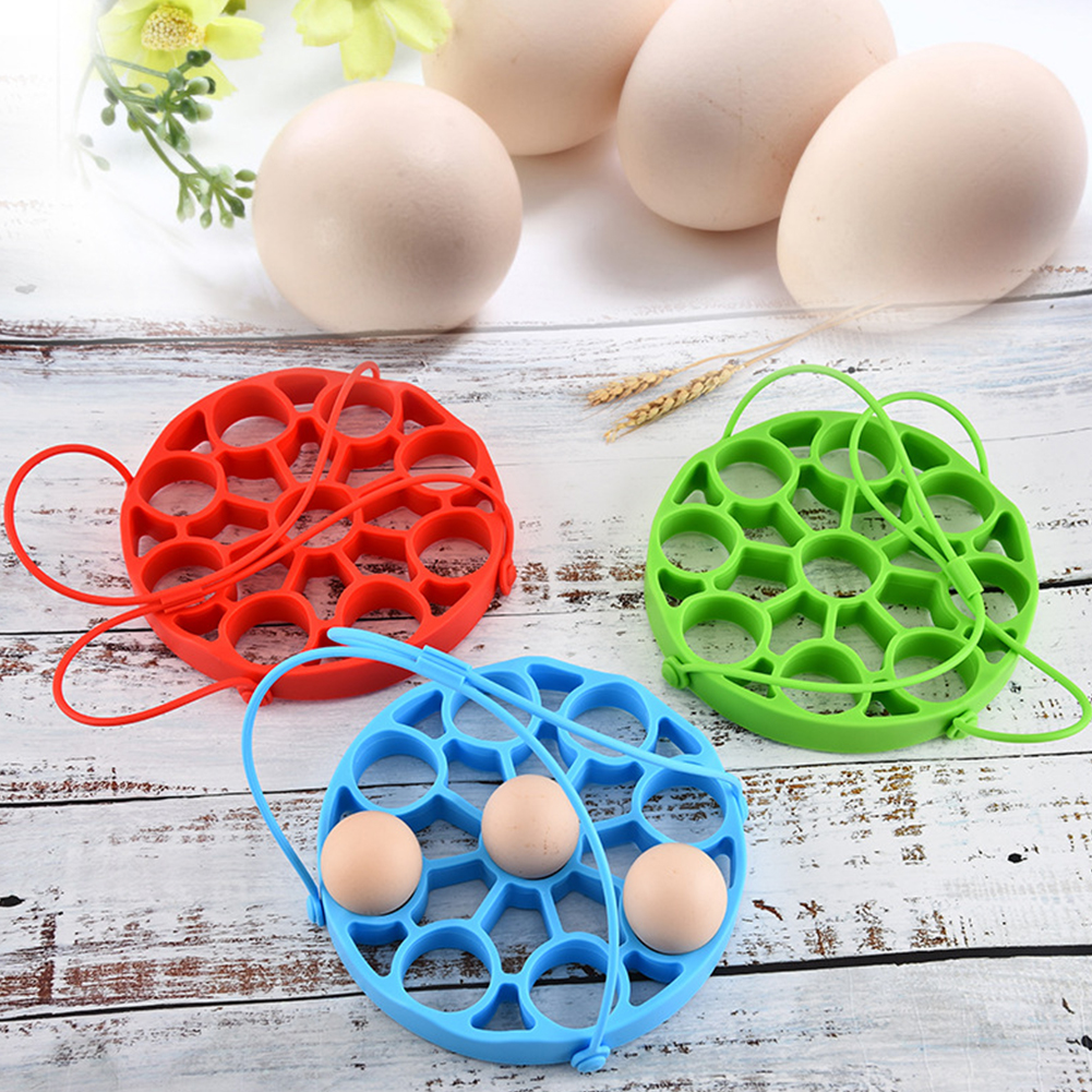 Basket Multifunctional Steamer Rack Soft Pressure Cooker Silicone Accessories Practical Home With Sling Round Kitchen Non Toxic