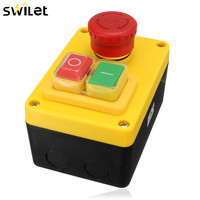 New 1PC 230V 16A 5 Pin NVR Emergency Stop Push Button Switch Knob Switch I O