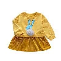 Frühling kleid Neue 0 1 3 Kinder Prinzessin kleid Cartoon Baby unregelmäßigen kleid Baby kleid-in Kleider aus Mutter und Kind bei