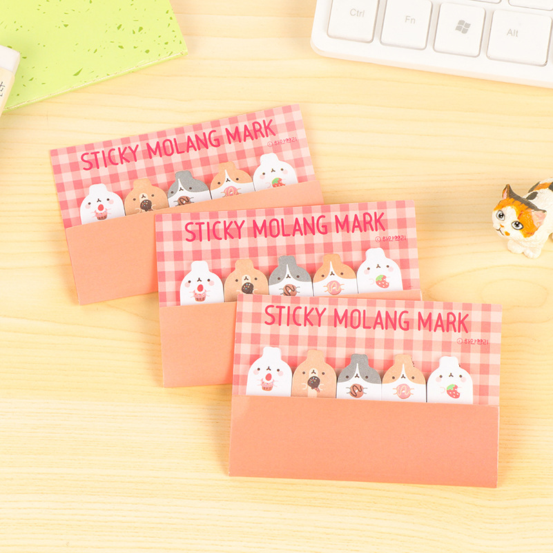 3pcs Kawaii Animal Memo Pads Rabbit Notepad 30*5 sheets Sticky Notes Post Memo Pad Paper Office Supplies School Stationery