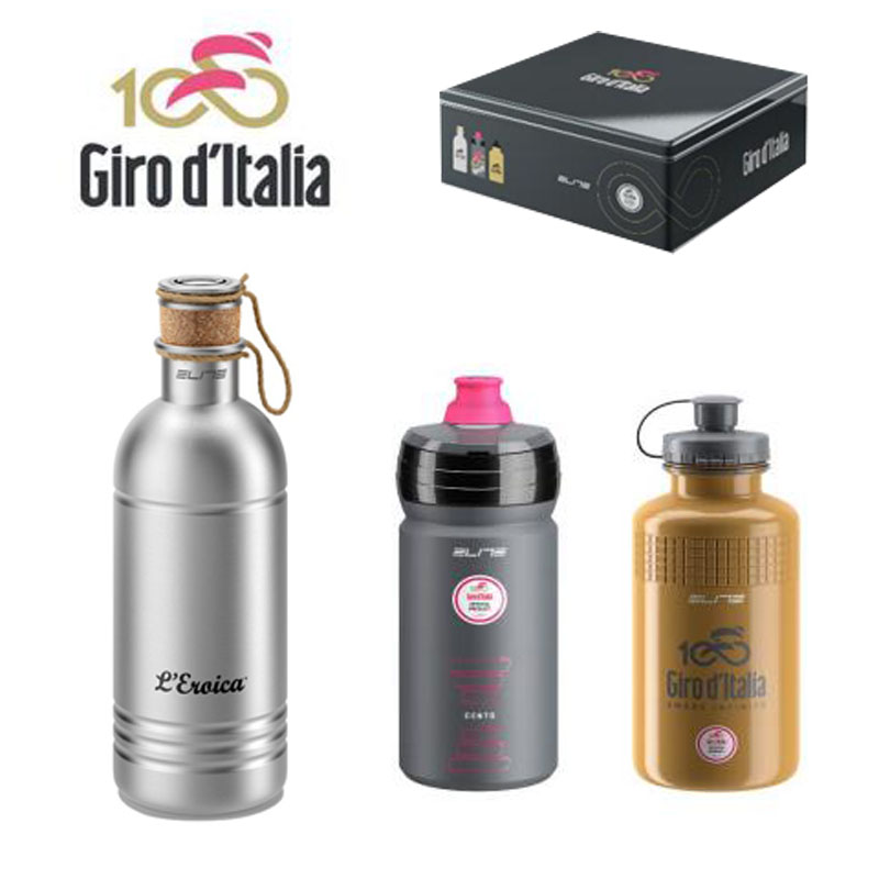 Elite GIRO D'ITALIA Water Bottles Limited edition riding kettle set Kettle Bicycle Water Bottle Cycling Sports Bottles 750ml non toxic odorless aluminum alloy sports water bottles cycling camping bicycle bike kettle outdoor riding sports kettle