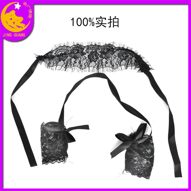 Sexy Lingerie Queen Mask Soft Padded Lace Mask Blindfolded Patch + Sex Handcuffs Sex Toys For Couples Erotic Costumes Sexy Game 3