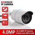 XMEYE Alta Resolução H.265/4MP H.264 Bala Câmera IP POE Ao Ar Livre Câmera de Segurança CCTV HI3516D + 1/3 ''OV4689, Faixa de IR 20 M