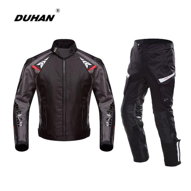 4167aa0edd DUHAN Moto Veste Hommes Oxford Étanche Moto Protection Racing Veste  Pantalon BlackMotorcycle Automobile Veste Costume
