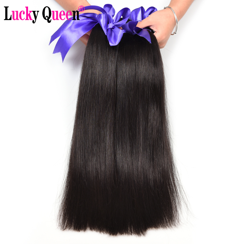 Lucky Queen Hair Products Peruvian Straight Hair 8-28inch 100% Human - Włosy ludzkie (na czarno)