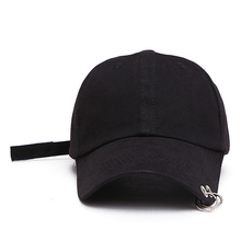 New Casual Plain Cap With Rings