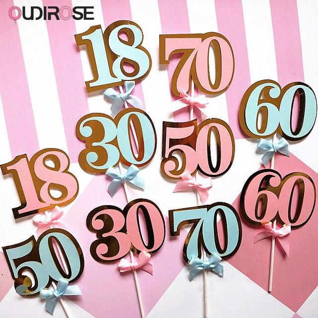 6b84e84f8 Rosa de papel azul Arco-Nudo número 18 30 50 60 70 pastel padres Feliz