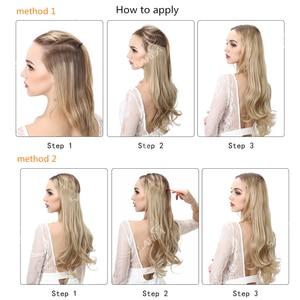 Волосы для наращивания Halo, волнистые, невидимые, Омбре, Bayalage, синтетические, натуральные, скрытая, секретная проволока, корона, леска, волосы