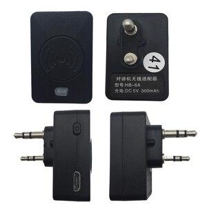 Image 5 - חדש K ראש Bluetooth אלחוטי אפרכסת PTT מיקרופון אוזניות עם כבל מתאם עבור BaoFeng BF 9700 A 58 UV XR UV 9R רדיו אבזרים