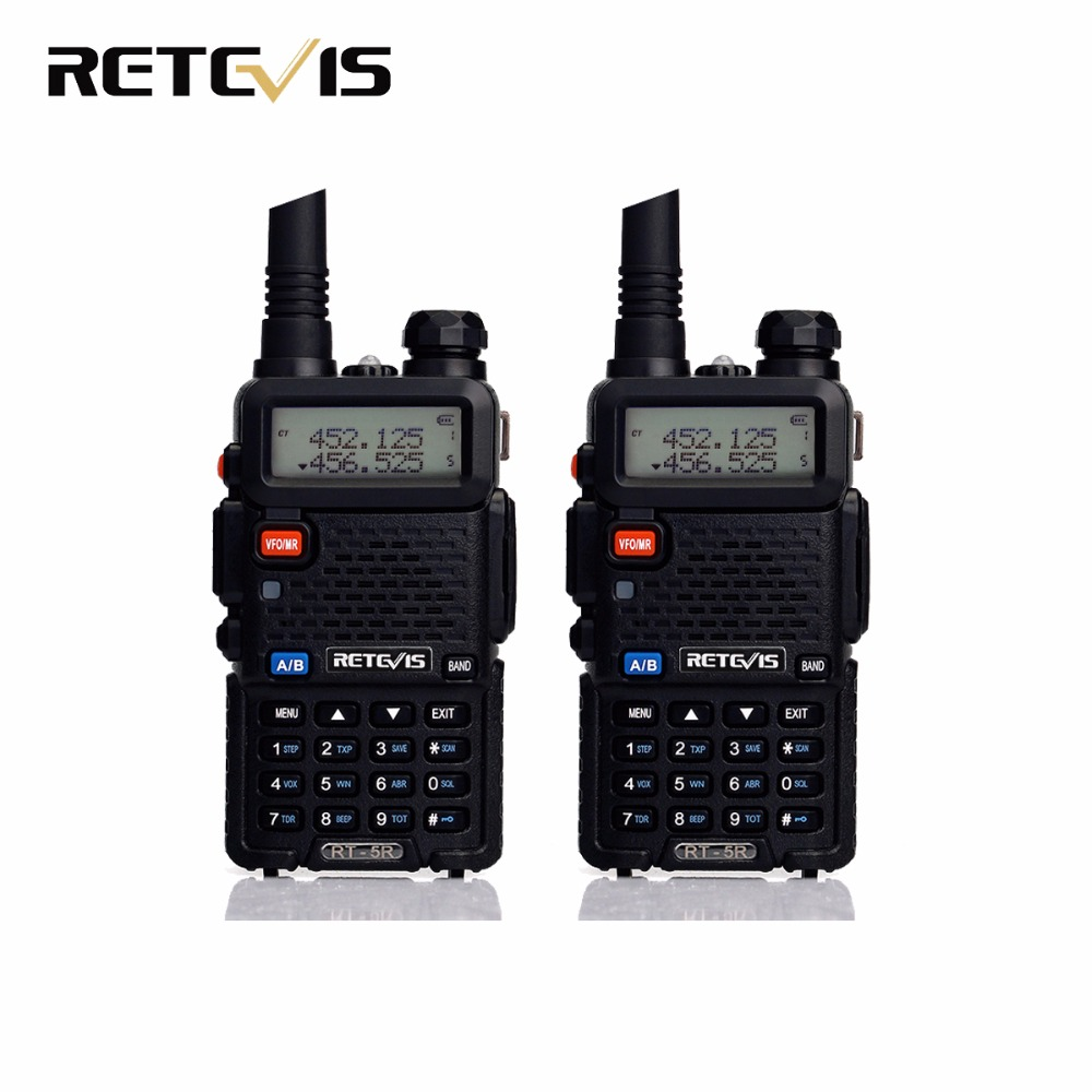 2 stücke Walkie Talkie Retevis RT-5R RT5R 5 Watt 128CH VOX Scan UHF VHF Dualband Amateurfunk Hf Transceiver tragbare