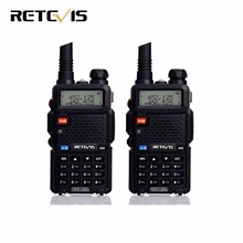 2 unids Profesional Walkie Talkie RT-5R 5 W 128CH VOX Scan Retevis UHF VHF Radio de Doble Banda de Radio de Jamón Portátil Comunicador