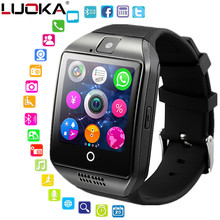 Smart watch clock Q18 SmartWatch Support Sim TF Card Phone Call Push Message Camera Bluetooth Connectivity For Android IOS Phone(China)