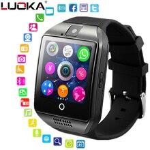 Смарт часы Q18 SmartWatch Поддержка sim-карта TF Телефонный звонок нажмите сообщение Камера Bluetooth Подключение для Android IOS Телефон