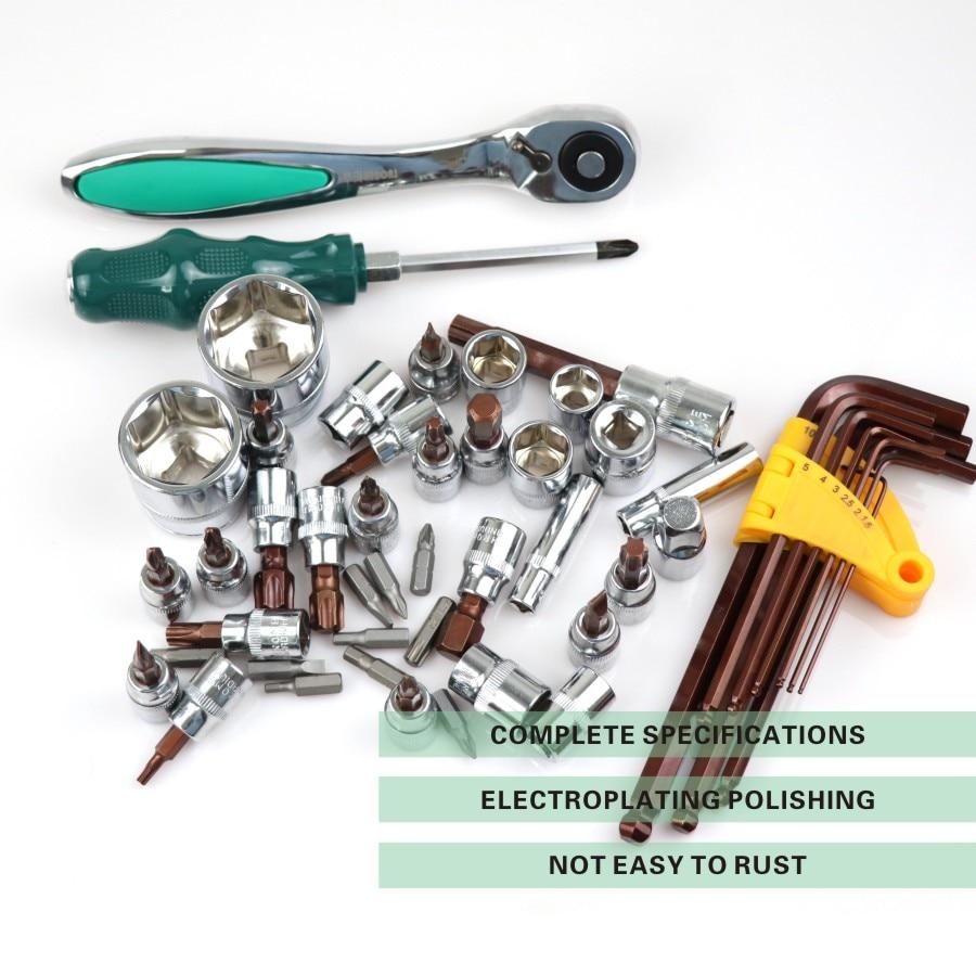 121 шт. в 1 механик ручной храповой инструмент наборы Авто торцевой ключ набор инструментов мини ремонт профессиональный gereedschap набор для авт... - 2