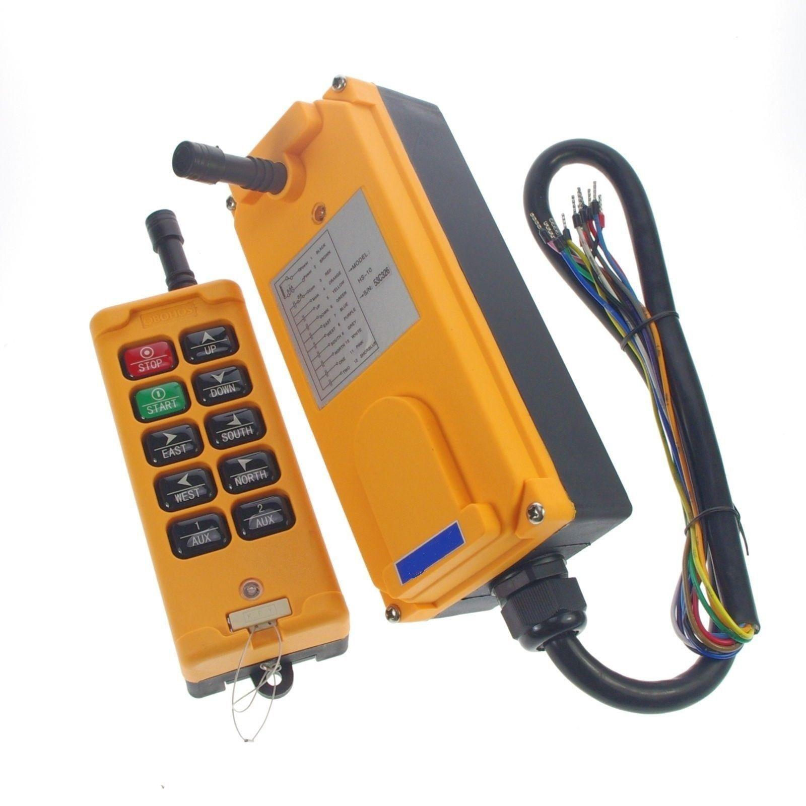 12V-415V 10 Channels 1 Speed 1 Transmitter Control Hoist Crane Remote Control System IP65 CE цена
