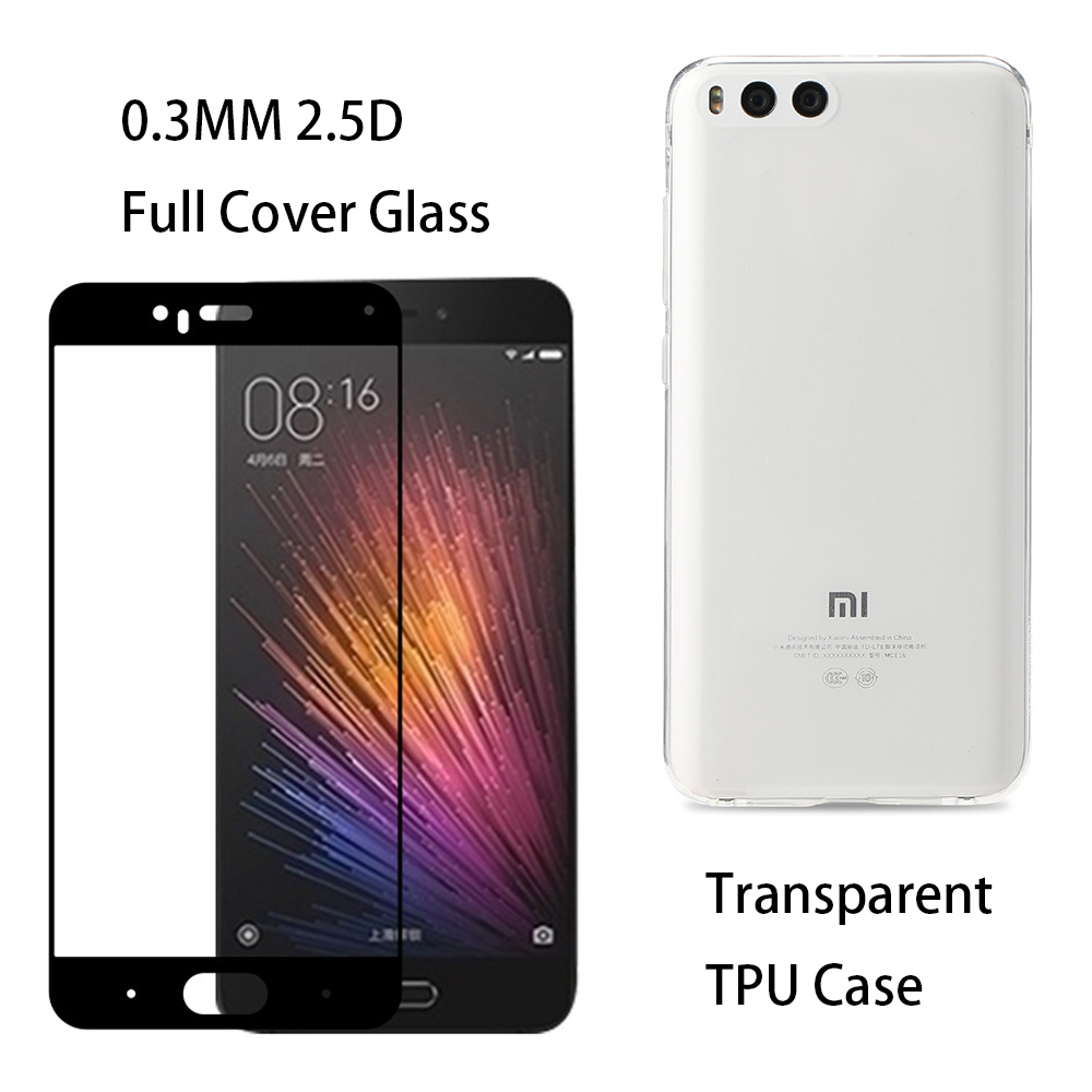 0.3mm 2.5D 9H härdat glasskärmskydd Transparent TPU silikonfodral - Reservdelar och tillbehör för mobiltelefoner