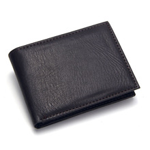 Wallet Men Soft Leather Wallet with Coin