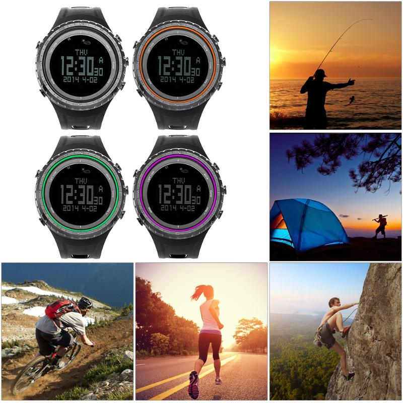 Brand New Men Sports Watch Altimeter Barometer Thermometer Compass Heart Rate Monitor Pedometer Digital Running Climbing Watch zauleon h4 h7 h11 h8 h9 h1 h3 9005 9006 9012 cob led car headlight bulb hi lo beam 60w 10000lm 6000k auto headlamp