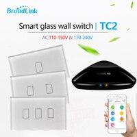 Broadlink TC2 US AU 2017 New Arrival Smart Home RF Touch Light Switches 123Gang 110V 220V