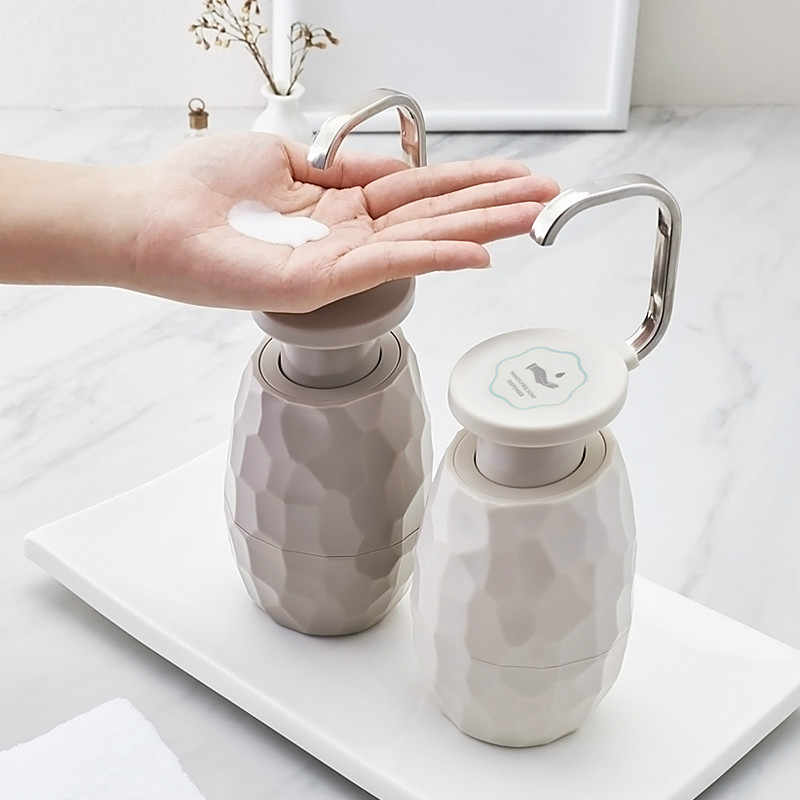 Creative single-handed soap dispenser Bathroom accessories ABS+stainless steel Liquid Soap Dispensers storage Bottles mx4101745