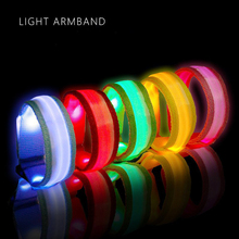 Reflective Armband Belt Strap For Outdoor Sports Night Running Cycling Arm Belt Riding Safety Belt Wristband Wrist Bracelets