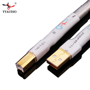 Image 2 - Câble usb Hifi plaqué argent haute qualité 6N OCC Type A B câble USB de données DAC