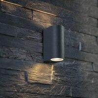4PC 6W 12w 85-265V AC 외부 벽 램프 빛 야외 방수 정원 램프 LED 빌라 통로 위아래 발코니 조명