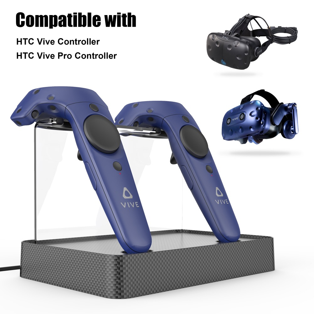 New Magnetic Dual Charging Station Charger Stand Holder For VR HTC VIVE and VIVE PRO Wireless