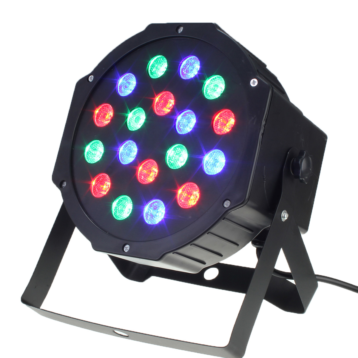 Jiguoor 18W RGB LED Stage Light Par DMX-512 Lighting Laser Projector Party DJ Lamp for DJ Party Disco AC110 - 220V Power plug dmx 512 rgb led stage light 12w sound active stage lighting effect laser strobe projector lamp for party dj disco ac90 240v
