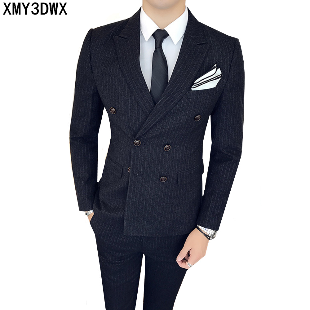Plus Size S 4xl Colorful Flash Powder Rhinestones Men Black Suit Set Nightclub Male Singer Dj