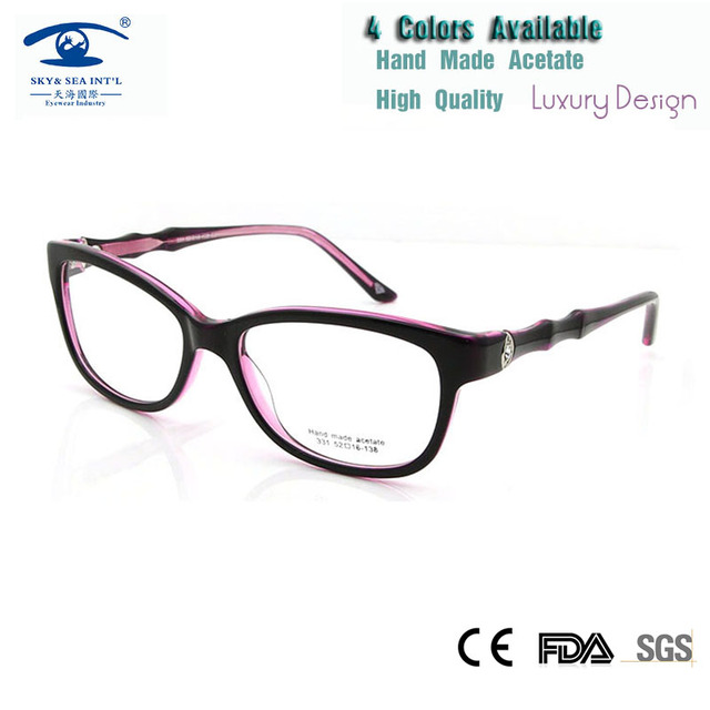 a6f506bf441 Wholesale (5pcs lot) High Quality Eye Glasses Frames for Women Luxury  Eyewear Womens