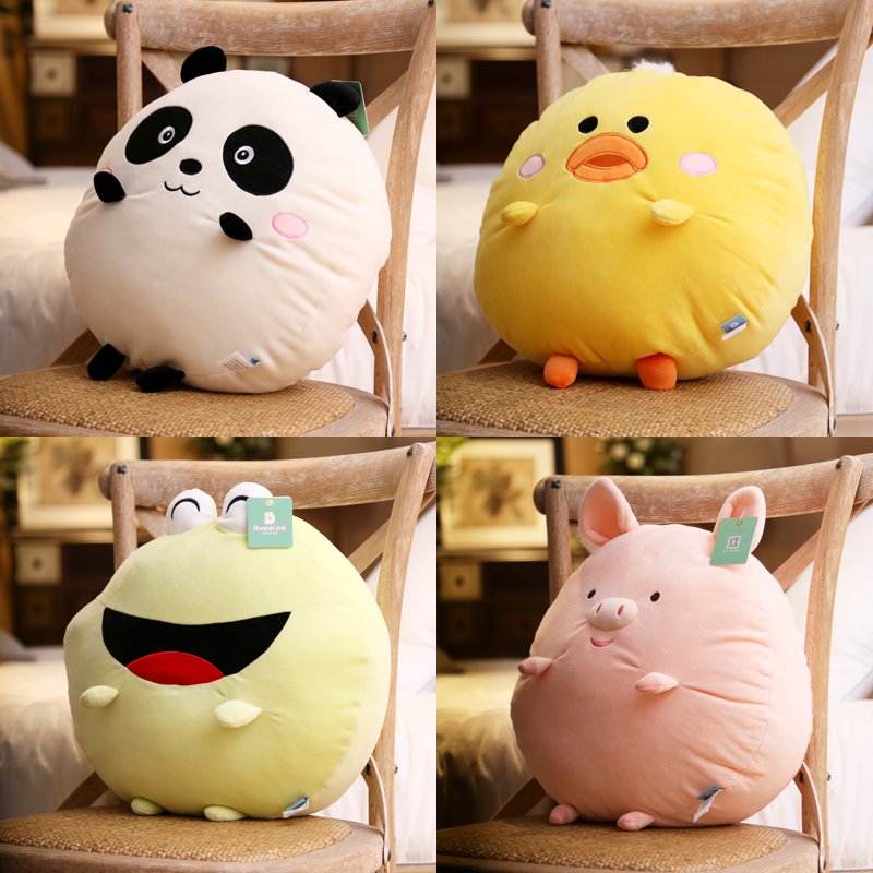 candice guo! Super cute plush toy lovely cartoon animal panda duck frog pig soft stuffed cushion pillow birthday Christmas gift