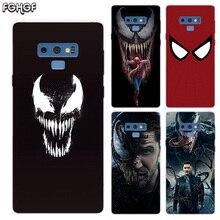 Transparent Soft Print Back Case For Samsung Galaxy Note 8 9 5 4 3 C5 C7 C8 C9 Fundas Cover Coque Venom Marvel