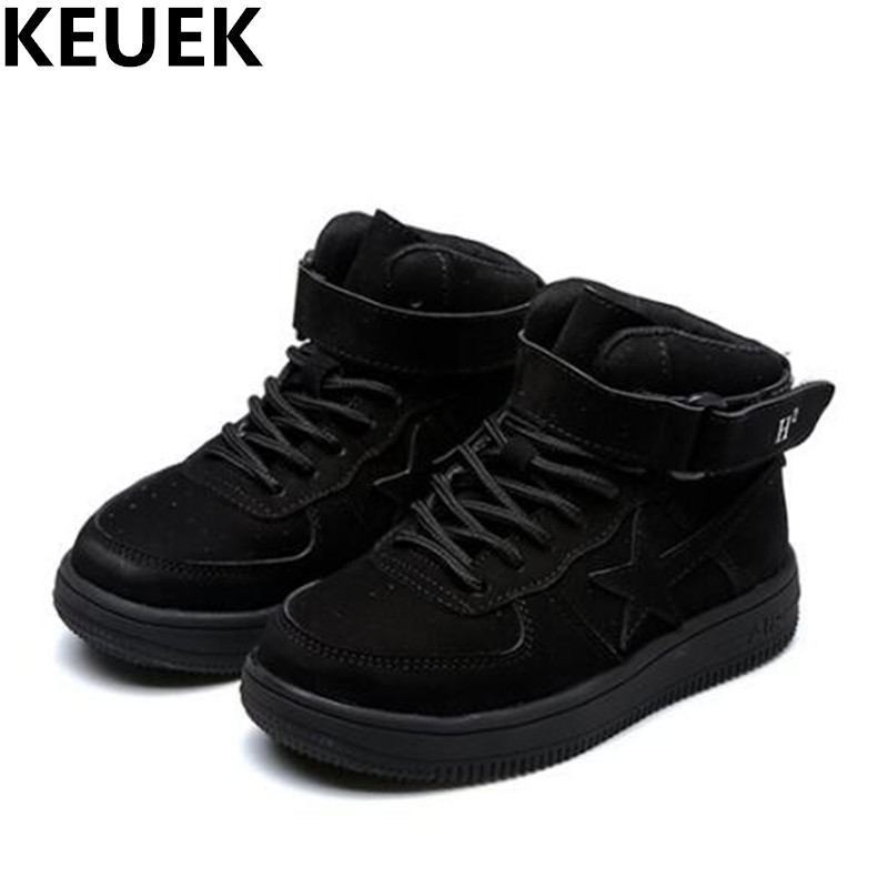 NEW Autumn/Winter Sneakers Children Shoes Boys Girls Genuine Leather Shoes Baby Toddler High Help Sports Shoes Kids Flats 044 new arrival spring autumn children shoes boys girls single shoes girls boys sneakers high quality casual canvas cs 119