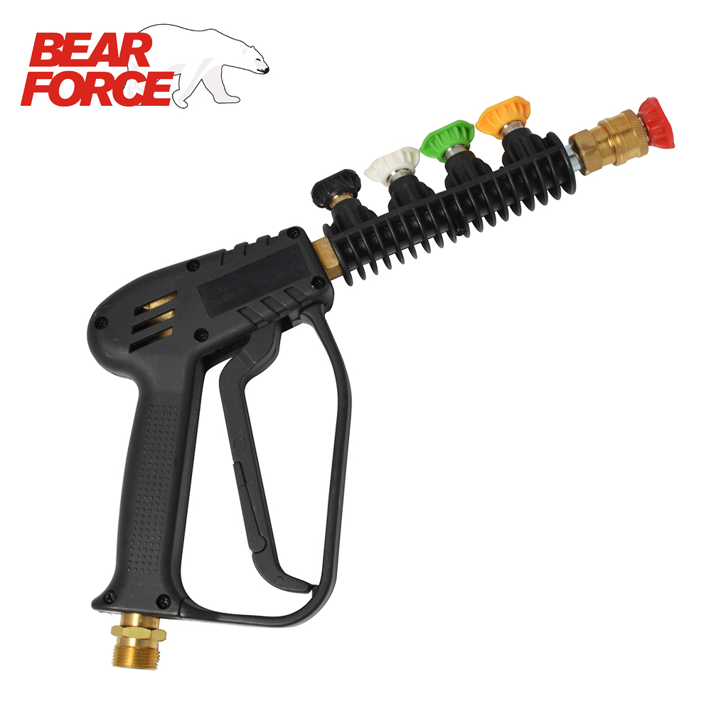 High Pressure Washer Car Washer Water Gun Wand Tips Pistol Short Spray Gun Jet Lance Nozzle 5 Quick Nozzle Tips