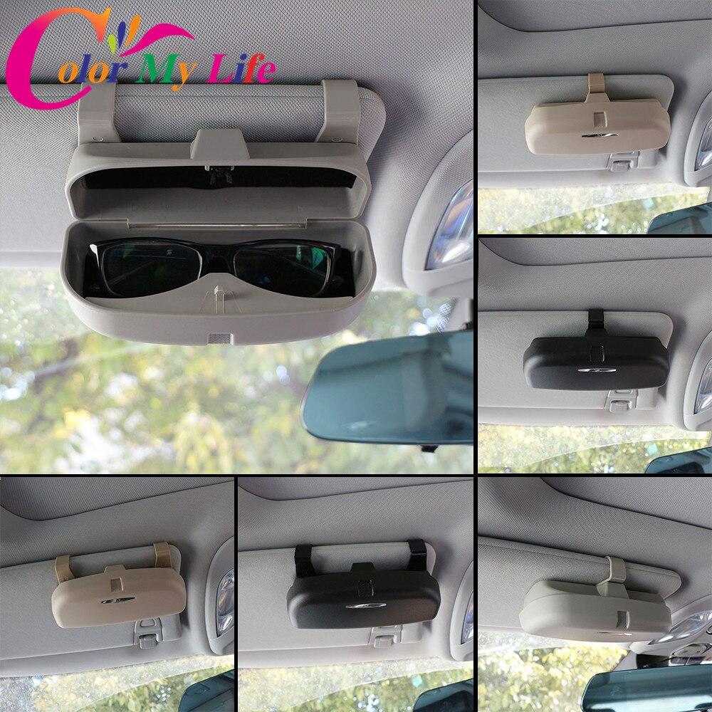 Color de mi vida gafas caso organizador caja titular de gafas de sol bolsillos de almacenamiento para Renault Koleos Kadjar plumero para Samsung QM6 QM3