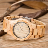 2018 Vintage Men Women Wood Watch Retro Men High Quality Wooden Watches miyota Movement wtih Calendar Display Role Wtistwatches